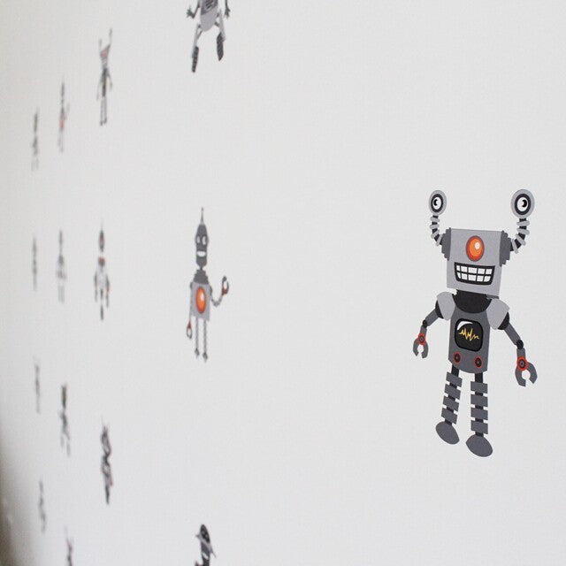 easy wall sticker - robot   funny workshop