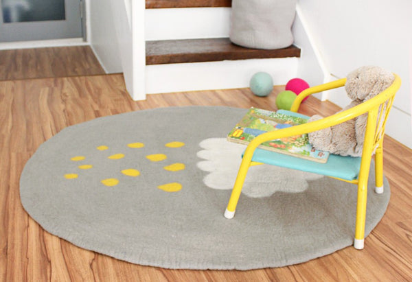 Yellow Cloud Rug
