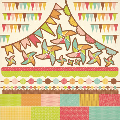 Save the Date - Pennants Sticker Sheet