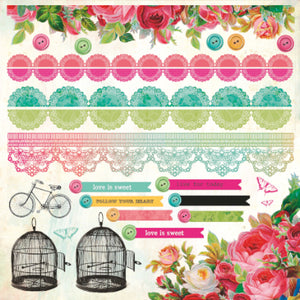 Secret Admirer - Borders Sticker Sheet