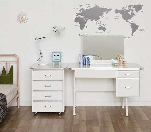 IN POP Cabinet with 4 Drawers White