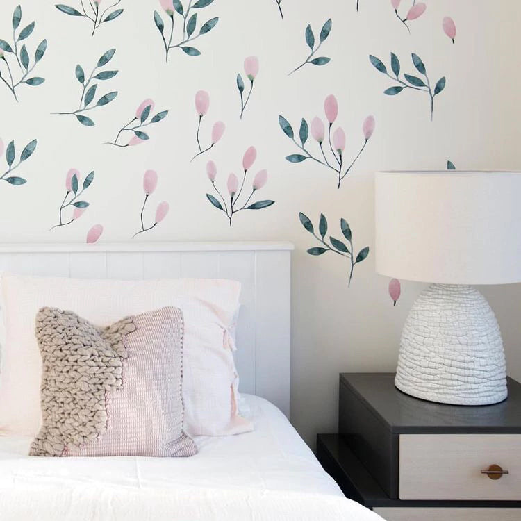 Easy Wall Sticker - Soft Blush Floral (accept pre-order)