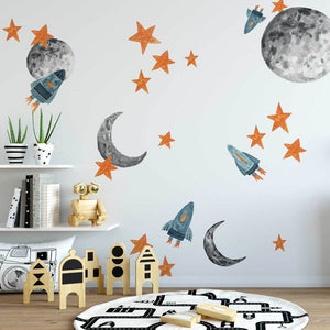 Easy Wall Sticker - Spaceships (accept pre-order)