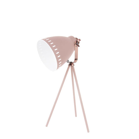 Table Lamp Mingle 3 Legs Metal Pink, copper accent
