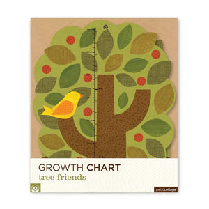 Petit Collage Growth Chart - Tree Friends