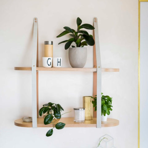 Two Tier Strap Round Shelf (accept pre-order)