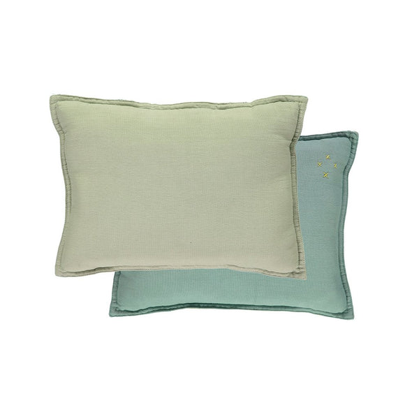 Two Tone Cushion - Light Teal/ Mint