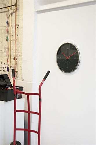 Wall Clock Thin Line Numbers Dark Grey