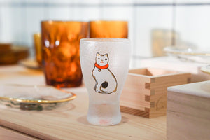 ISHIZUKA EDO Sitting Cat Sake Glass