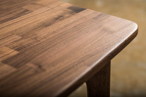 Checker Dining Table Walnut