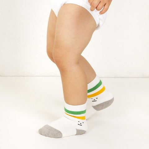 Baby Socks - Green & Yellow
