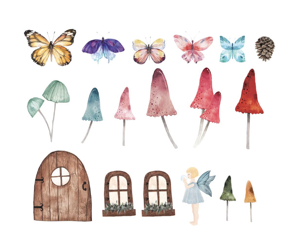 Easy Wall Sticker - Little Fairy Set (accept pre-order)