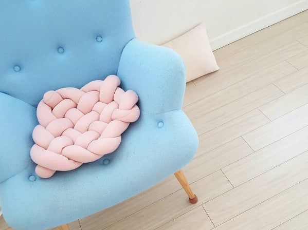 Knot Cushion Blue