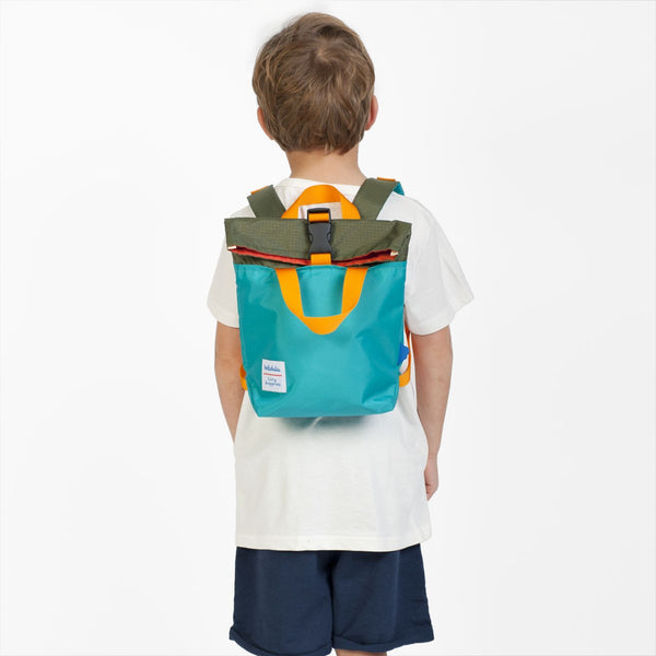 Jazper - Roll-top Backpack - Olive/Lake Green