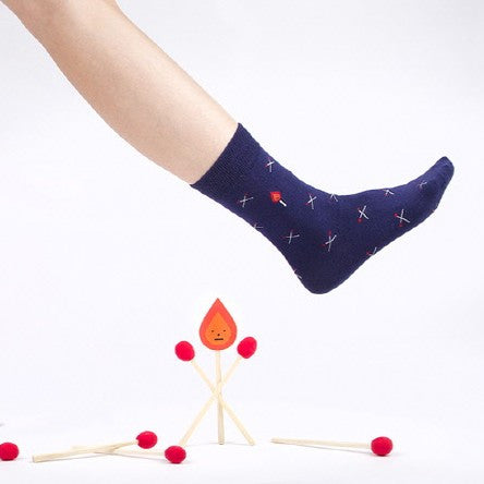Socks - Matches Navy