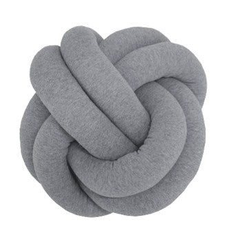 Knot Cushion Melange Grey