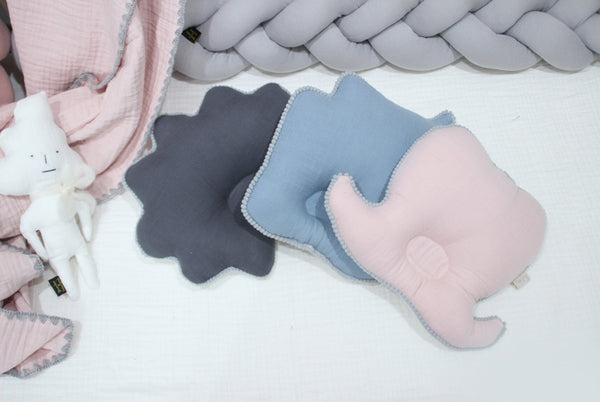Hairstyle Newborn Pillow - Blue