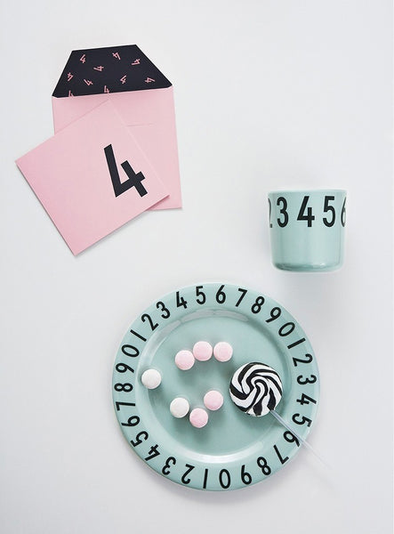 Melamine The Numbers Gift Set - Pink