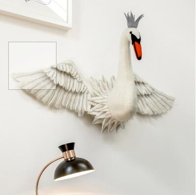 Wall Decoration - Swan Head with wings (accept pre-order)