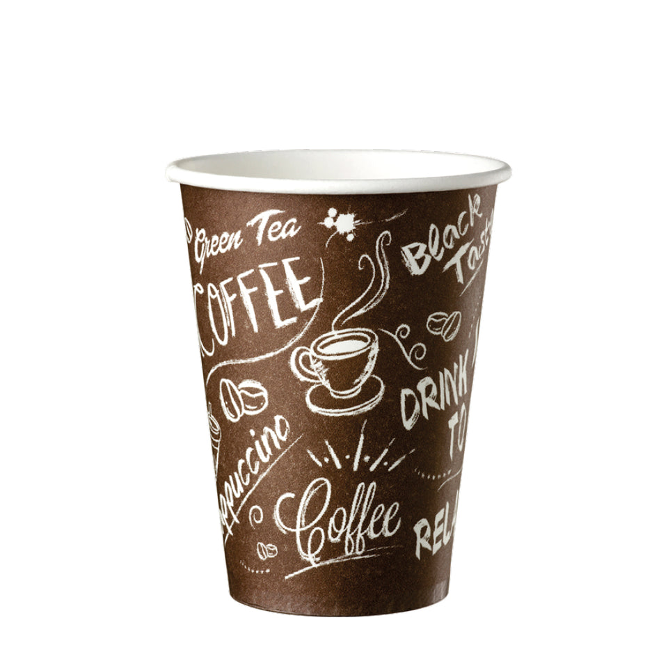 PAPIERBECHER, Coffe to go, 18cl Single Wall Graffiti