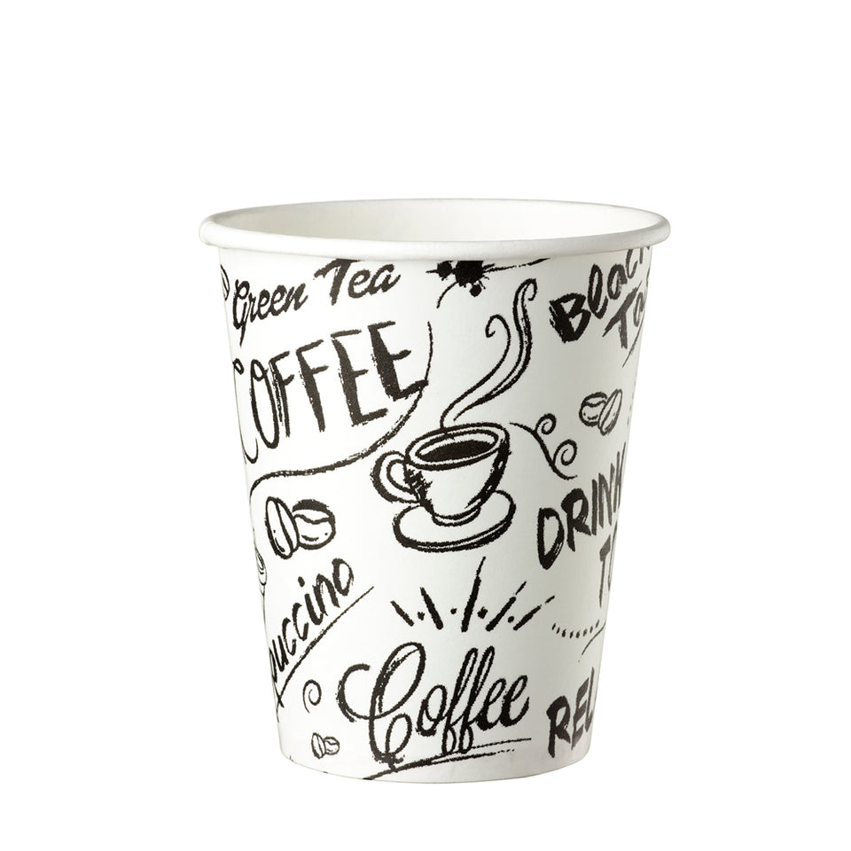 PAPIERBECHER, Coffe to go, 25cl Single Wall Graffiti