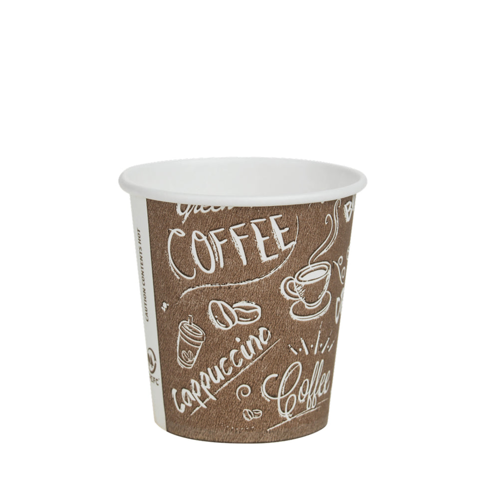 PAPIERBECHER, Coffe to go, 8cl Single Wall Graffiti