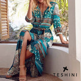 Blue Maxi Bohemia Long Dress
