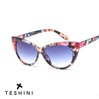 Floral Cat Eye Classic Vintage Luxury Sunglasses