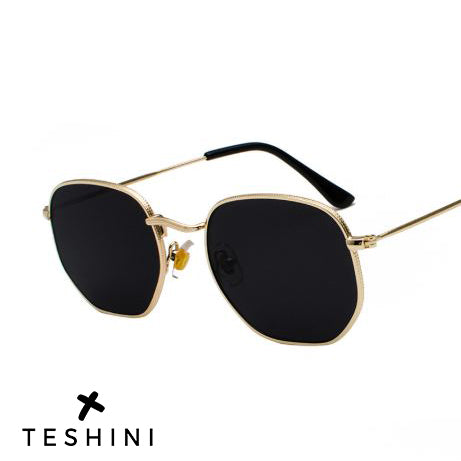 Gold Black Metal Frame Luxury Sunglasses