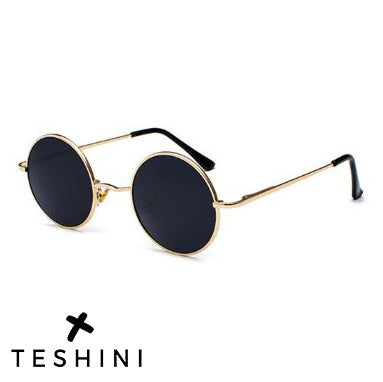 Gold Black Retro Vintage Polarized Sunglasses