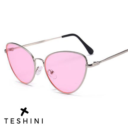 Pink Sexy Small Vintage Retro Sunglasses