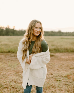 Cara Cream Knit Cardigan