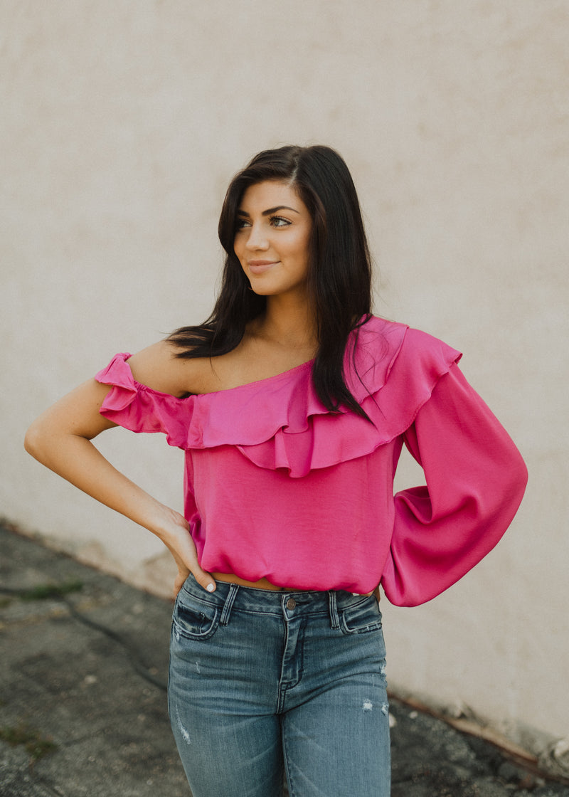 Harper One Shoulder Blouse