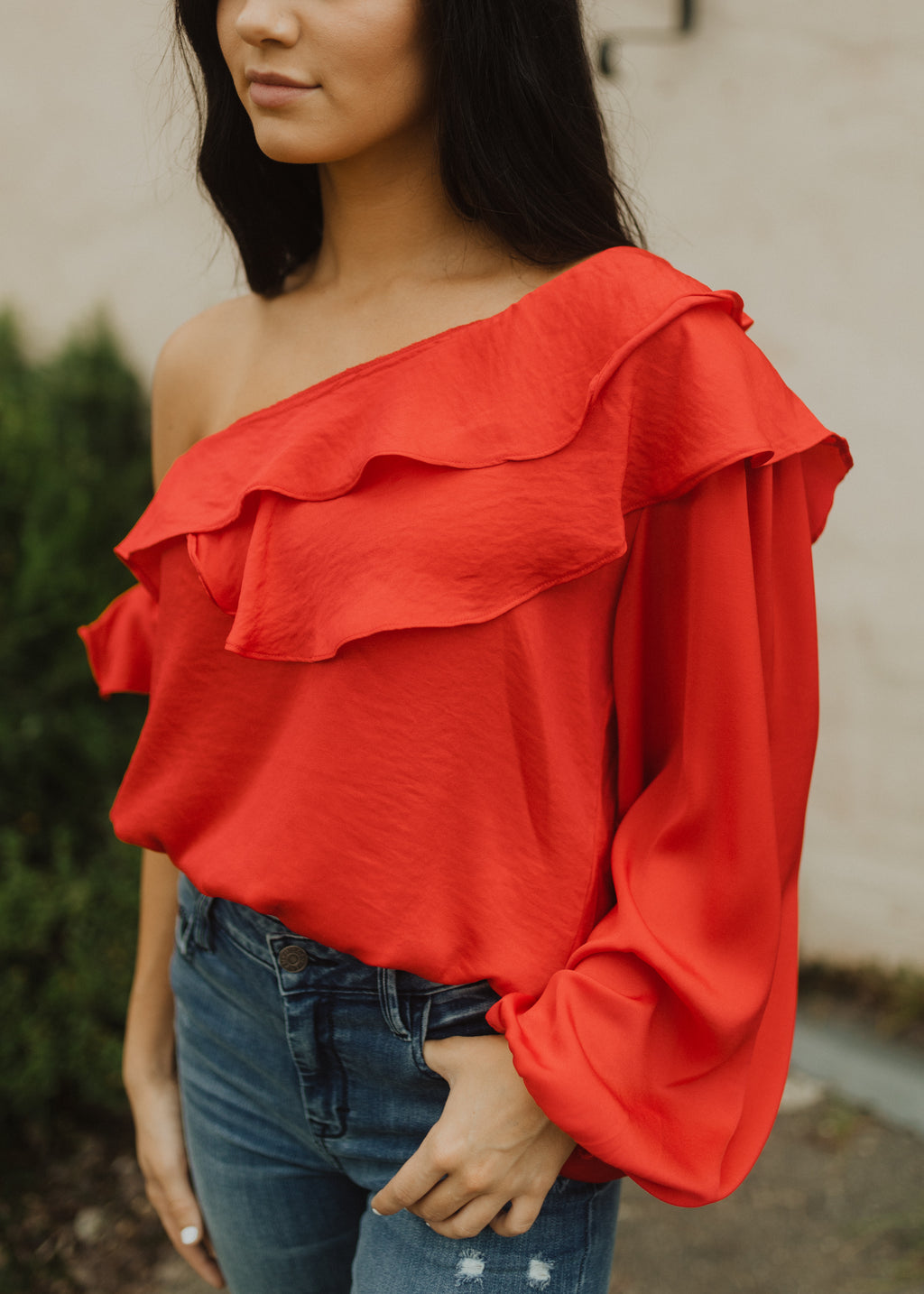 Salem One Shoulder Blouse