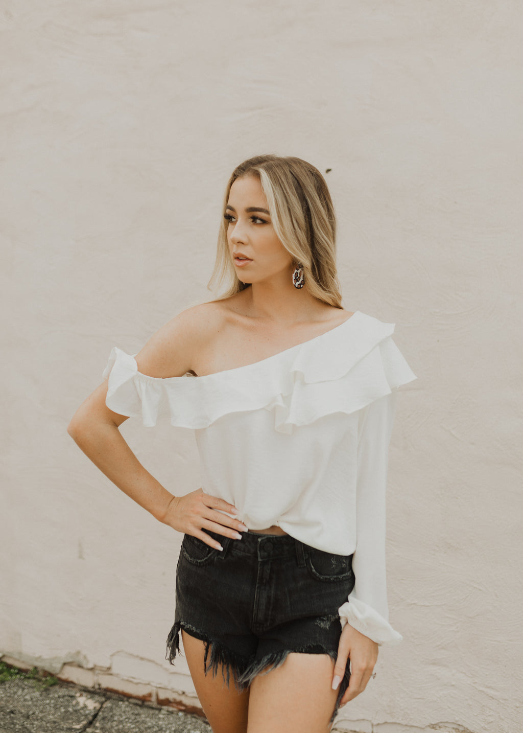 Amelia One Shoulder Blouse