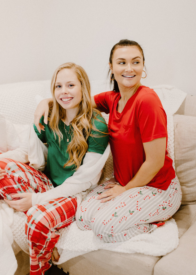 Plaid Christmas Pajama Set