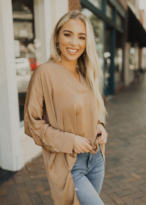 Classy Carol Top in Taupe
