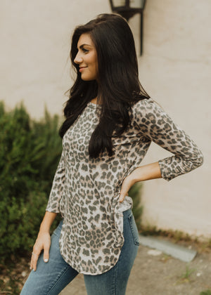 Waverly Washed Leopard Top