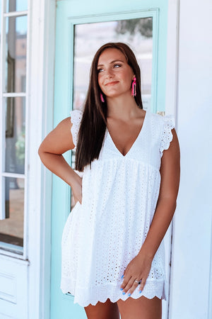 Willow White Lace Romper
