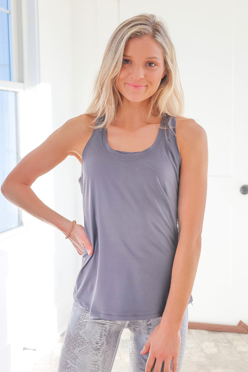 Mykenna Tank In Charcoal