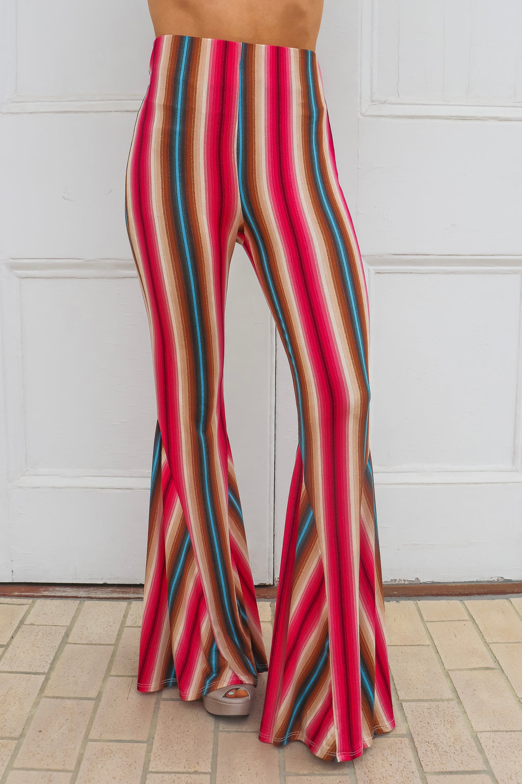 Savannah Jane Bell Bottoms In HOT Pink