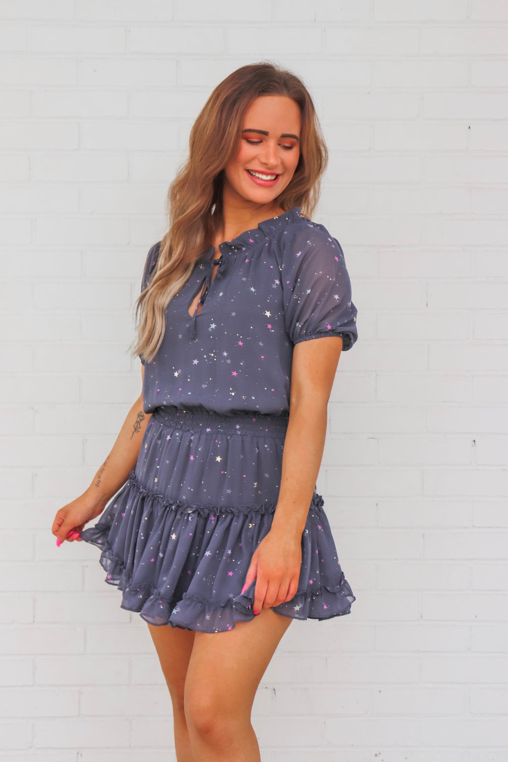 Ray Glitter Galaxy Dress