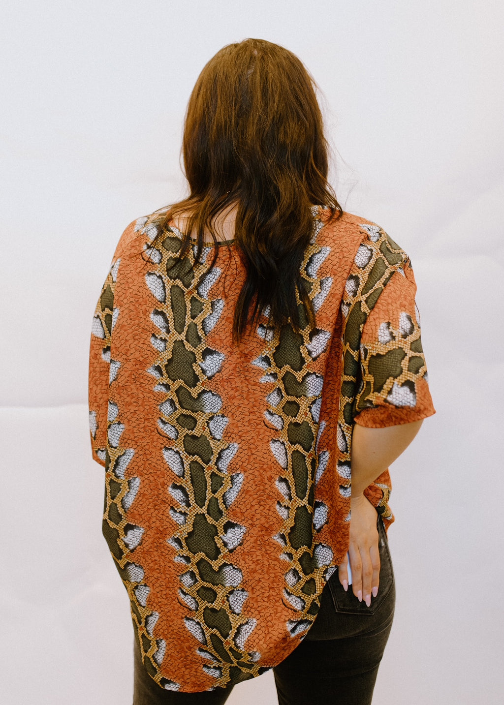Center Of Attention Blouse in Rust
