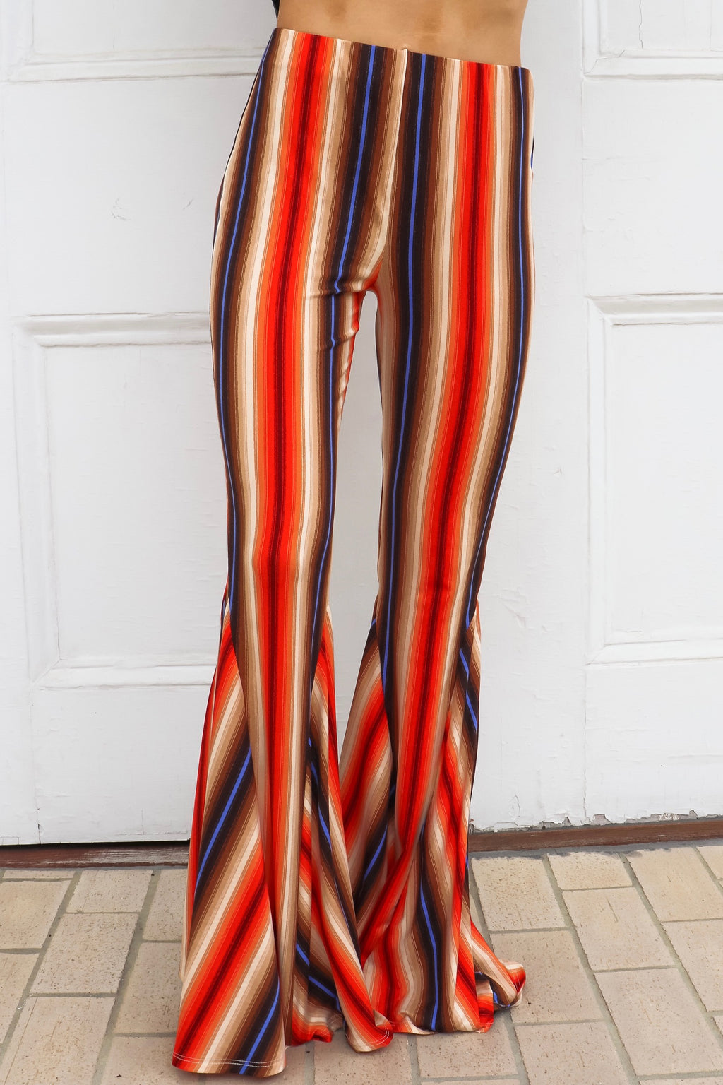 Savannah Jane Bell Bottoms In Rust Blue