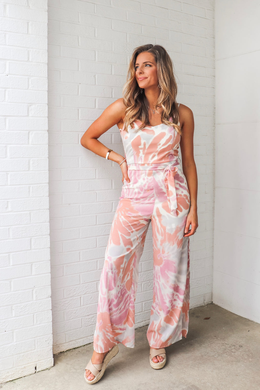 Anna Sky Jumpsuit In Coral