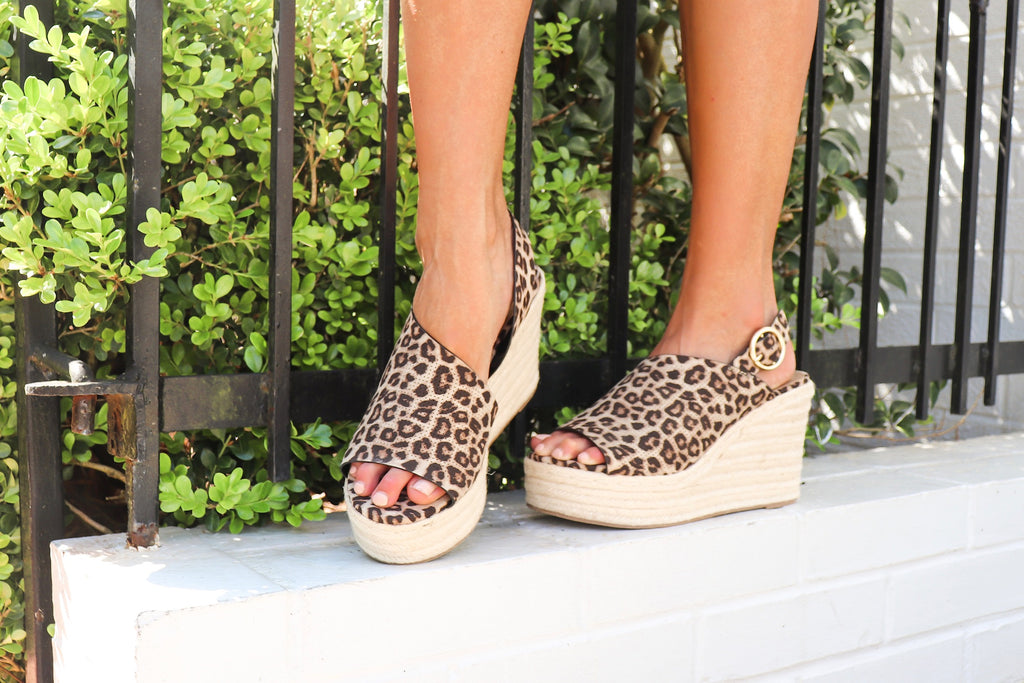 Jasmine Cheetah Wedge