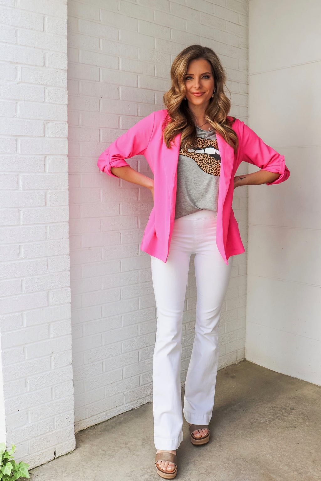 White Mid-Rise Flare Jeggings