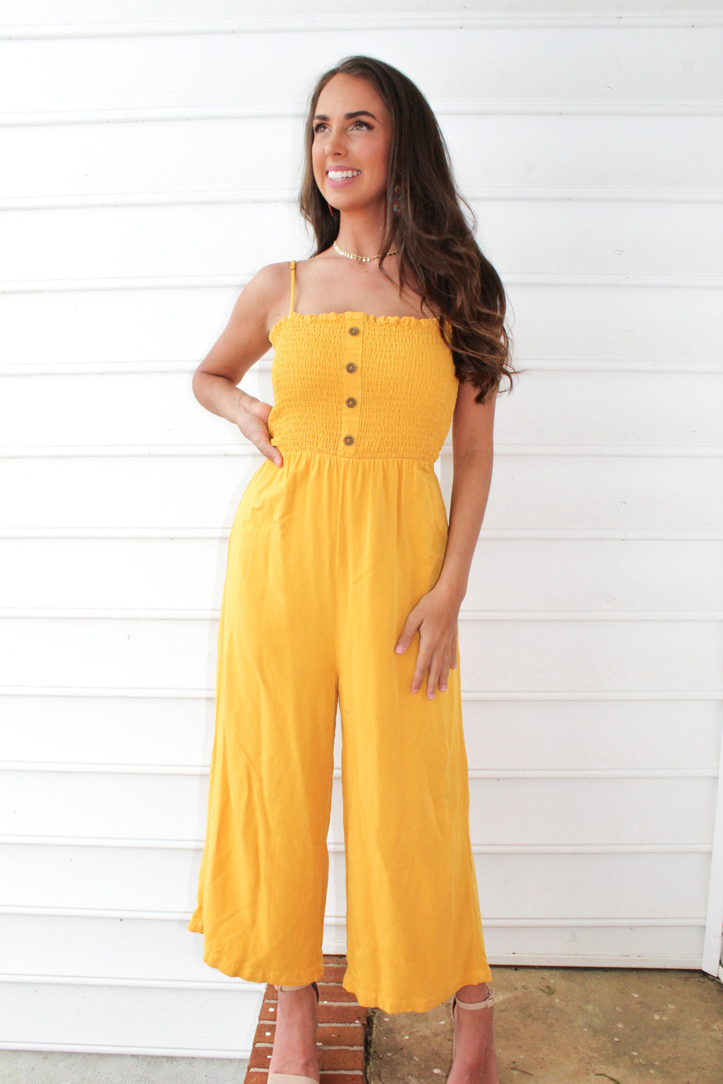 Charlotte Layne Jumpsuit In Yellow