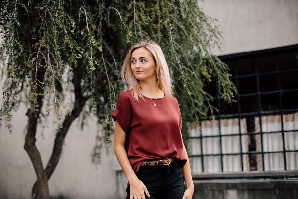 Estelle Blouse In Red