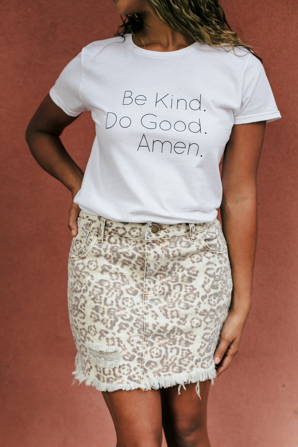 Be Kind, Do Good, AMEN Graphic Tee